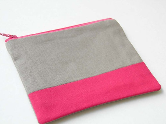 geometry color block pouch