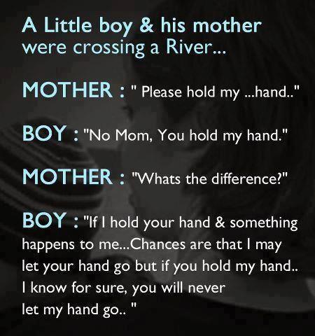 Hold my hand....