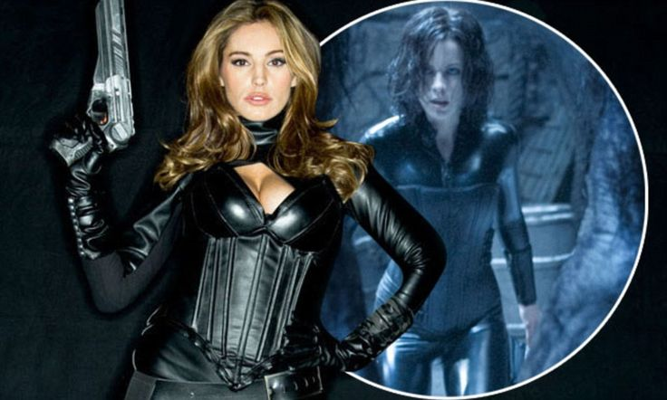 That looks familiar! Kelly Brook takes inspiration from Kate Beckinsale's Underworld catsuit for new sci-fi movie
