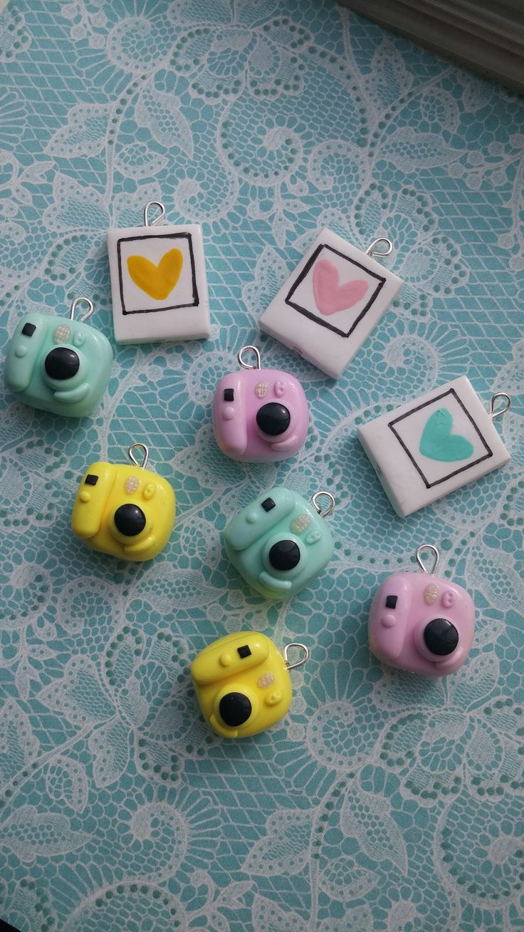 Polaroid cameras made of polymer clay
