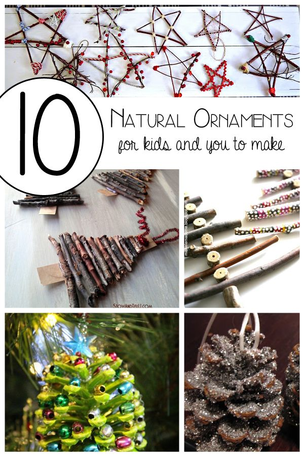 Ten simple Christmas Ornaments for you and the kids to make after a simple nature walk and will add some rustic charm to your tree and home this year.