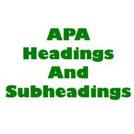 This lesson goes over how to format headings and subheadings in APA style.