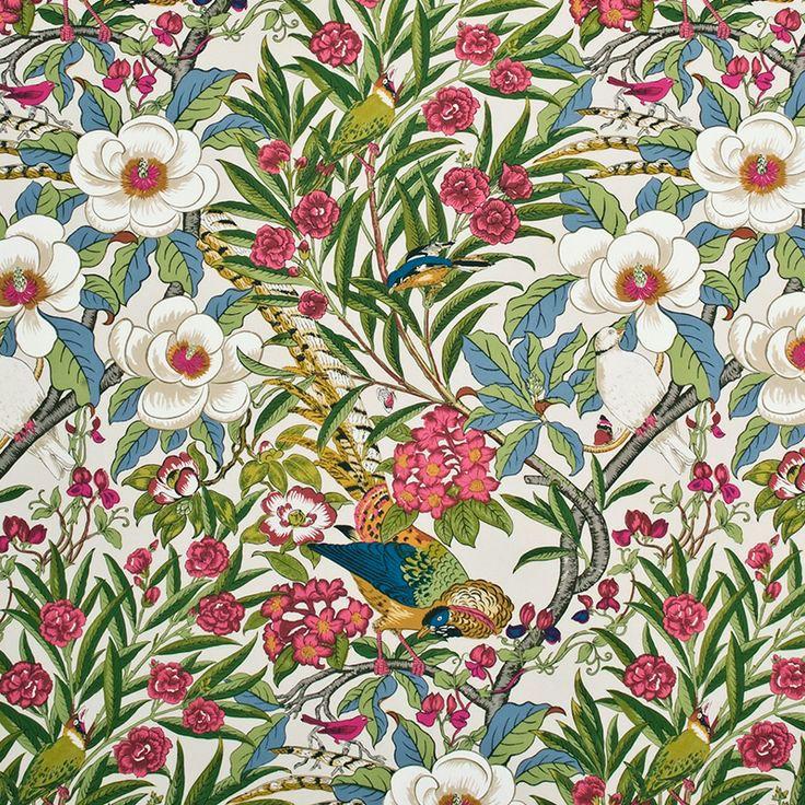 Sanderson Fabric tropical print Тропический принт
