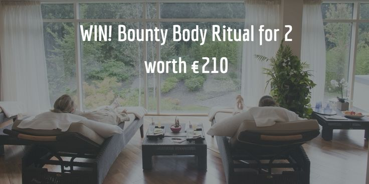 WIN! Bounty Body Ritual for 2 worth €210 at Fota Island Resort You and your lucky guest will be treated to a top-to-toe coconut body polish, a rich chocolate envelopment leaving your skin silky smooth, vanilla & jasmine body oil application and VIP spa access to the hydrotherapy pool & thermal suite with light refreshments afterwards. To enter simply answer the question via the link, Good Luck