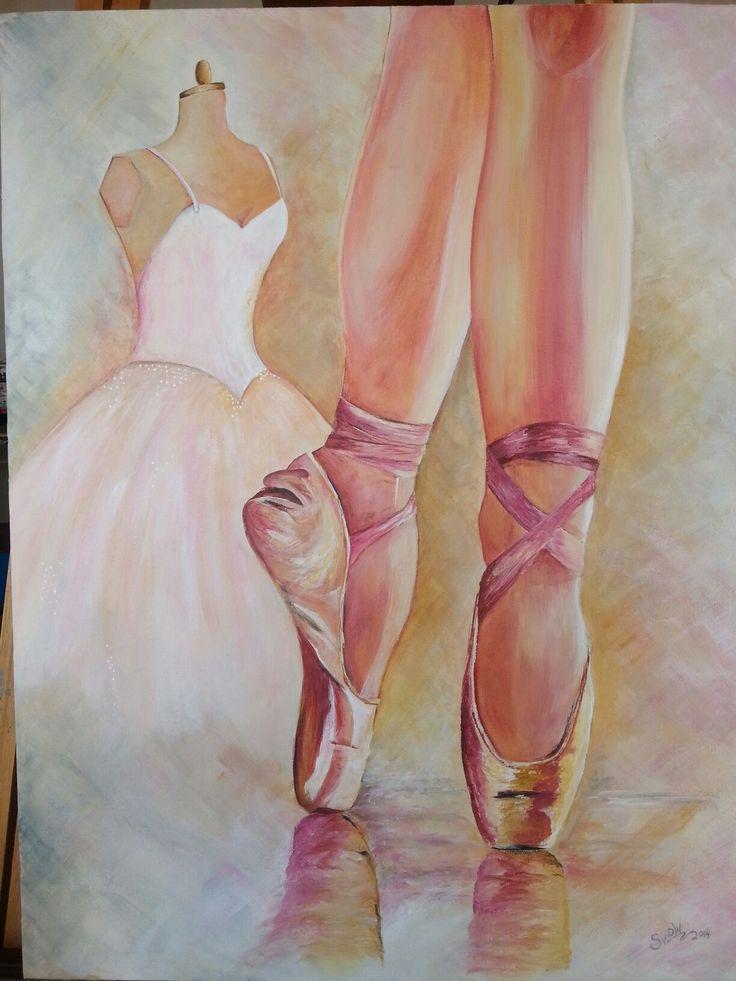 Sentimental ballet on canvas, Acrylic
