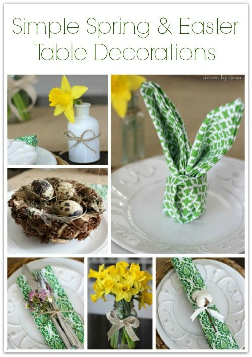 Delightful Quick And Easy Spring And Easter Table Decorating Ideas