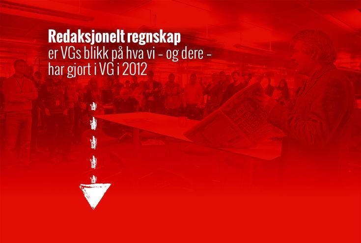 Tips til flott måte å presentere innhold på - VGs redaksjonelle regnskap for 2012