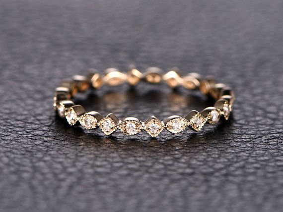 Wedding Bands Diamond Eternity Band Eternity Ring by kilarjewelry