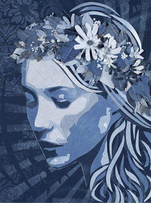 Charismatic Jean Headshots - Ian Berry Uses His Signature Denim Art Style to Create Portraits (GALLERY)