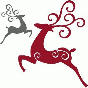 Silhouette Design Store: flying elegant reindeer
