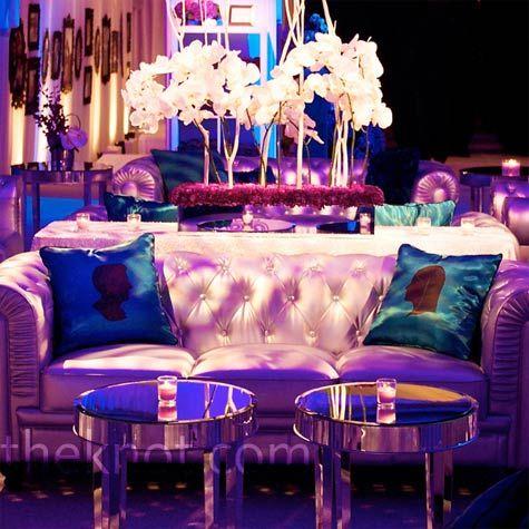 Purple Lounge Area