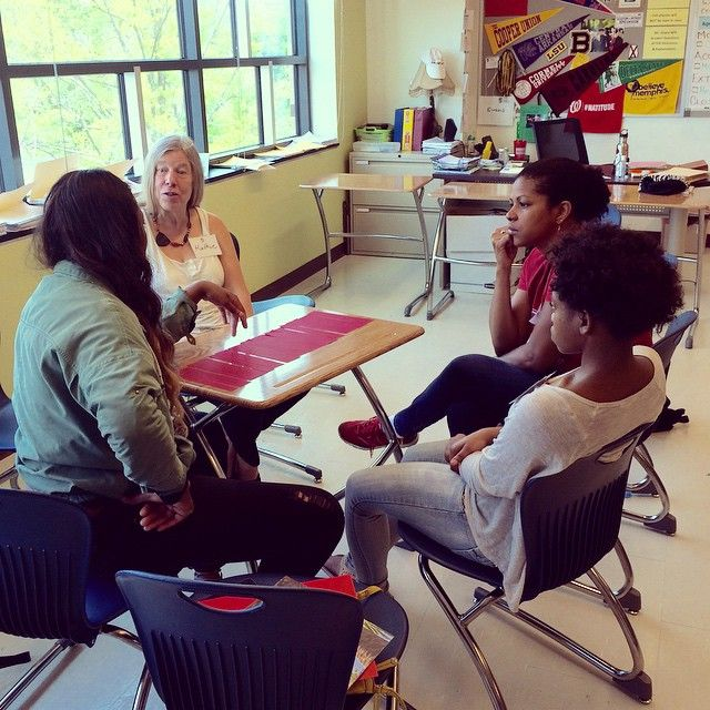 Alums and students at the College Prep program headed up by SBAA DC#beyondthefarm