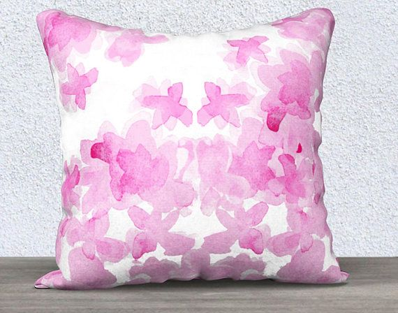 Hot Pink Pillow Pink Flower Pillow Case Hot Pink Throw