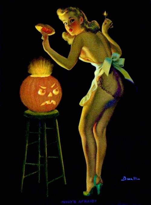 Oh my I was going to surprise you but you caught me turning on the Jack-o-lantern! Happy Hallowe'en!
