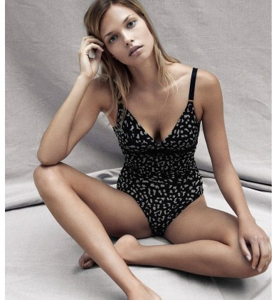 The Marguerite Riding Bodysuit by Stella McCartney is a stylists favourite: sleek silhouetting with a stylish animal print means you can use as outerwear or underwear.