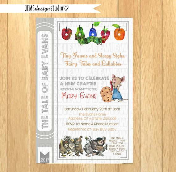 8 best storybook shower images on pinterest | storybook baby, Baby shower invitations