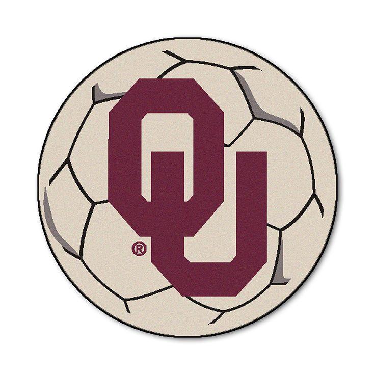 Oklahoma Sooners NCAA Soccer Ball Round Floor Mat (29)
