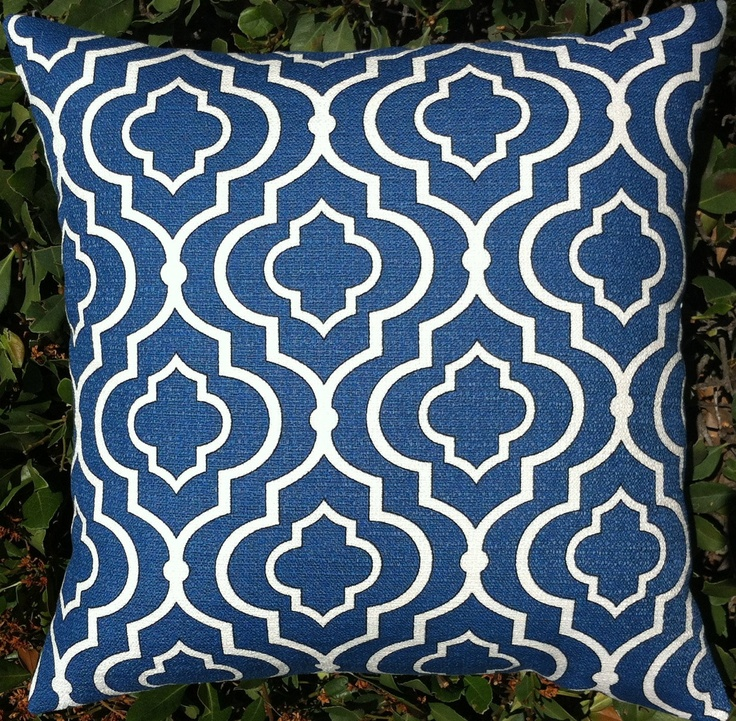 Set of 2 Blue Moroccan Decorative Pillow Covers by Pillomatic, $45.00