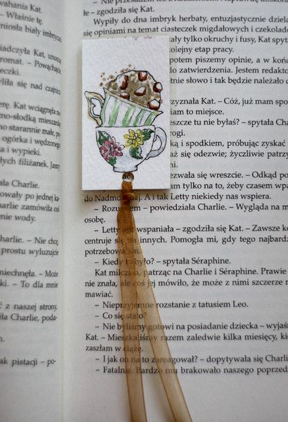 Paper & Card – Five o'clock - Handmade bookmark – a unique product by virydi_art on DaWanda