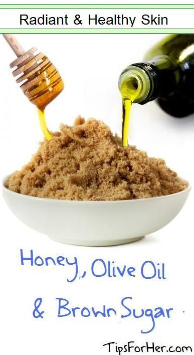Radiant and Healthy Skin Using Honey, Olive Oil and Brown Sugar - Combine the ingredients together into a paste like substance. Apply to skin, be careful when applying to face. The brown sugar exfoliates and helps to remove dry and dead skin cells. The honey moisturizes the skin and the brown sugar gives it that youthful glow.