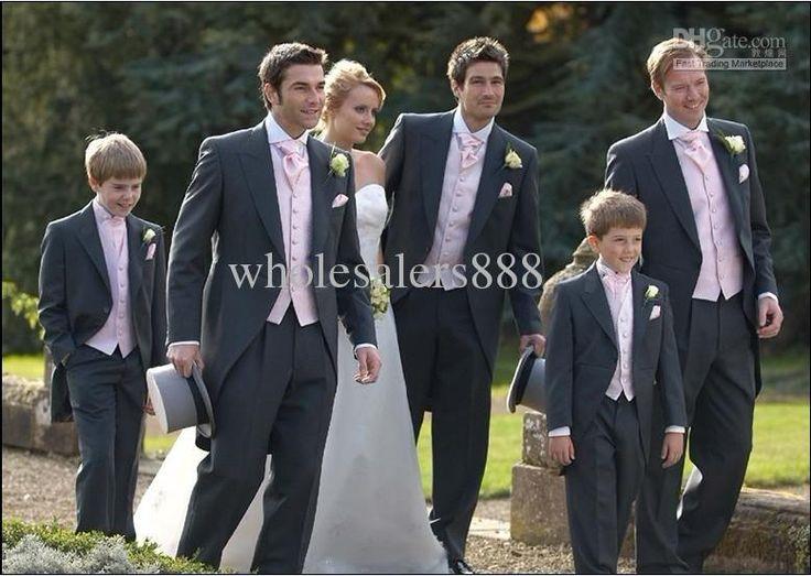 Wholesale Morning Style Custom Made Charcoal Groom Tuxedos Notch Lapel Best Man Groomsmen Men Wedding Suits Bridegroom (JacketPantsTieVest) H606, Free shipping, $125.0/Piece   DHgate
