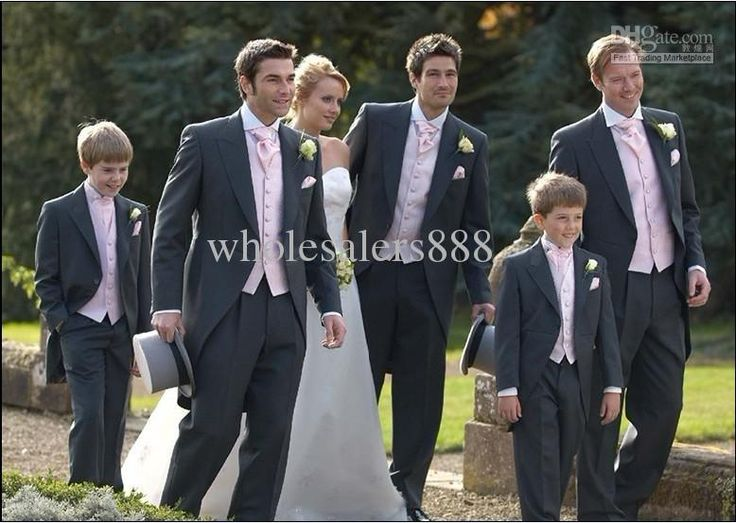 Wholesale Morning Style Custom Made Charcoal Groom Tuxedos Notch Lapel Best Man Groomsmen Men Wedding Suits Bridegroom (JacketPantsTieVest) H606, Free shipping, $125.0/Piece | DHgate