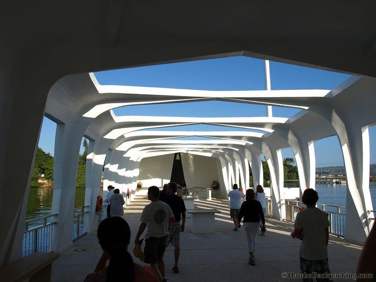 Mémorial de l'Uss Arizona. Architecte: Alfred Preis