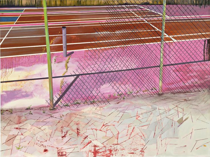 Eva Struble (American, b. 1981), Kane and Lombard Tennis, 2006. Acrylic and oil on canvas, 74 x 102 in.