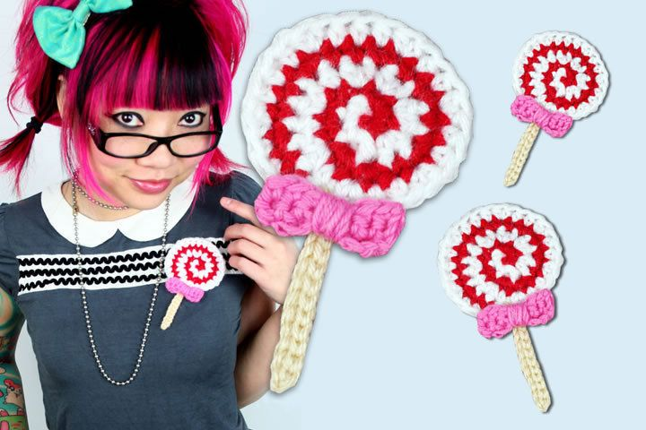 Lollipop Brooch in Snippets Magazine Issue 18 - The Christmas Mini Issue on Cut Out + Keep