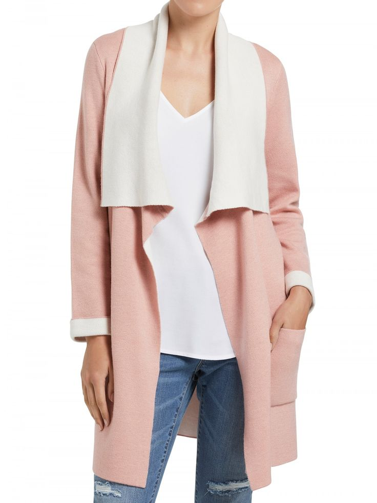 Two Tone Knit Coat