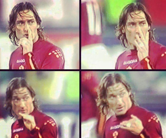 -4 al #bigmatch #juveroma! Oggi #amarcord del 4-0 del 2004 dove #totti passò alla #storia per il famoso gesto del 4 verso #tudor! #asroma #asromaultras #giallorossi
