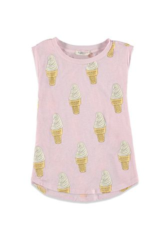 Ice Cream Graphic Muscle Tee (Kids)   Forever 21 girls - 2000131216