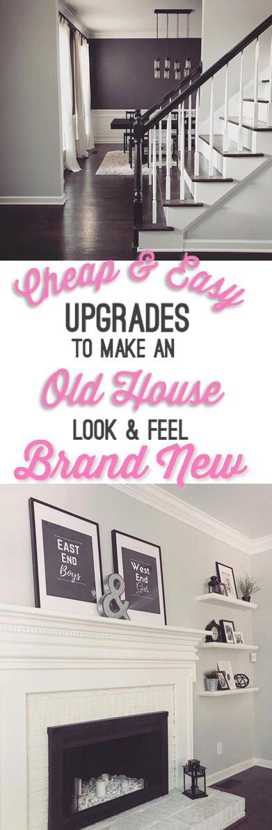 Upgrade home DIY on a budget interior ideas make old house look and feel new modern DIY home decor interior design on a budget ideas renovation