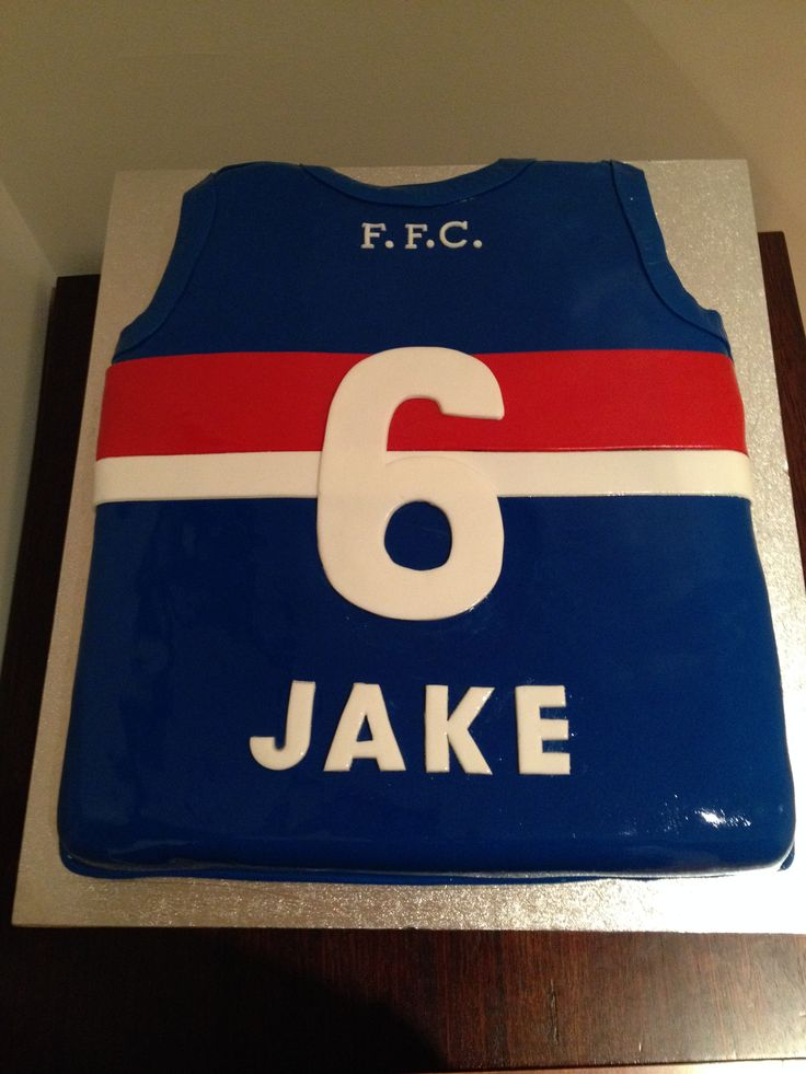 Personalised Western Bulldogs Jersey Cakes Pinterest