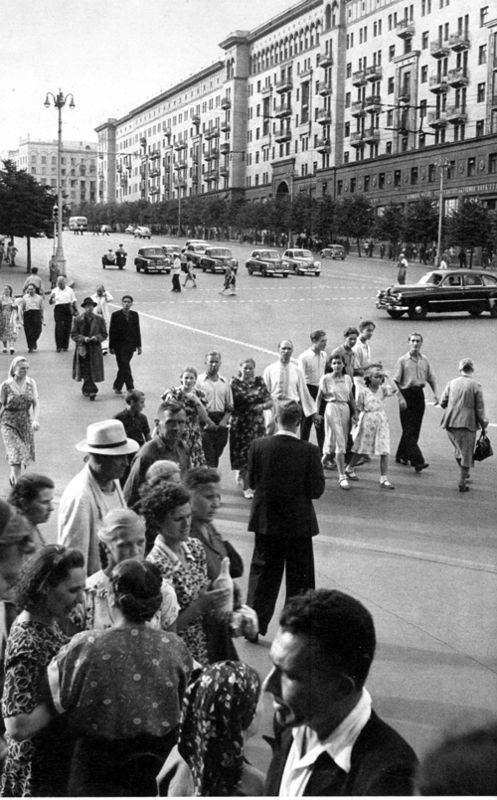 Gorky Street, Moscow, USSR. Henri Cartier-Bresson was in Moscow in 1954 to prepare a book documenting daily life under communism.