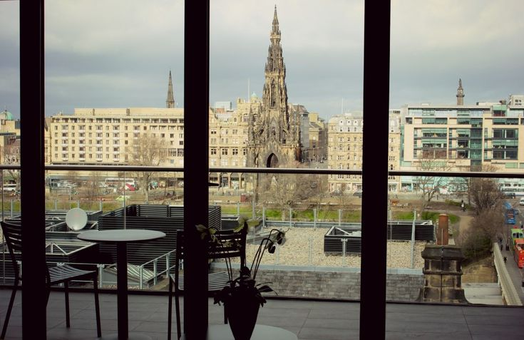 The gorgeous view of Edinburgh as seen from the large class French doors was the first thing I saw when I entered the penthouse at Old Town Chambers.  @The City of Edinburgh Council @This is Edinburgh