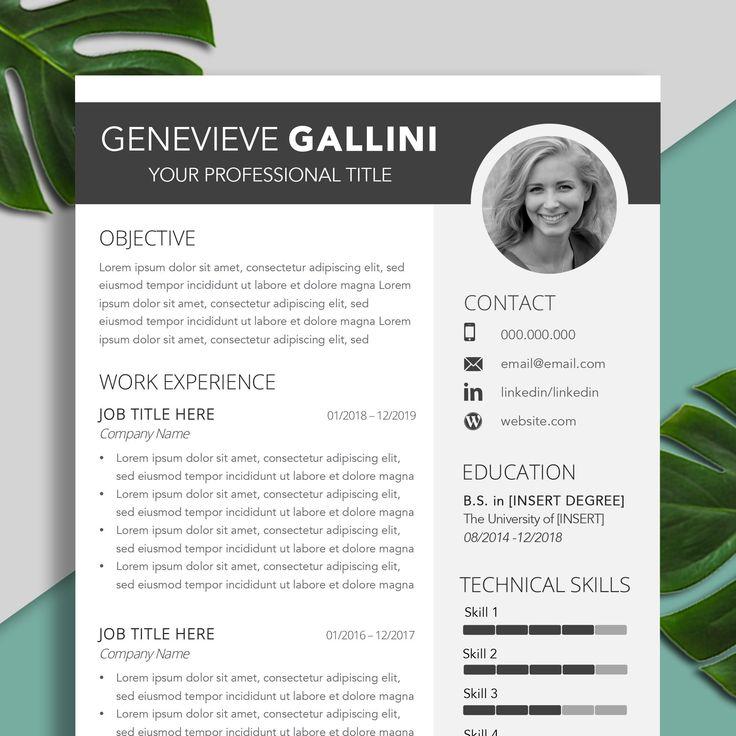 2020 resume template cv template professional resume