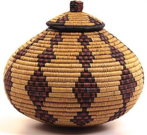 African Zulu Ukhamba Basket No. 3