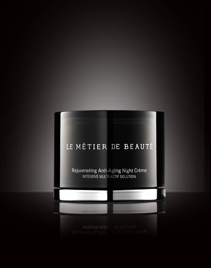 Le Metier de Beaute Anti-Aging Night Creme. Retinol with a little magic mixed in, which I use twice a week.  Doesn't irritate my sensitive skin and makes my skin glow like nothing else has.