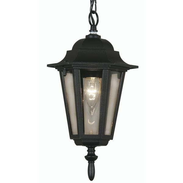 Oaks 171 CHAIN BK | Haxby Black Outdoor 1 Lamp Traditional Pendant – Discount Home Lighting