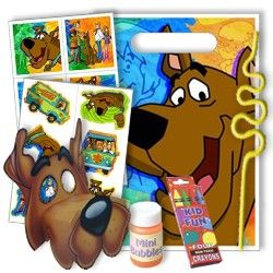 Scooby Doo Party Supplies, Scooby Doo Favor Packs, Party Favors