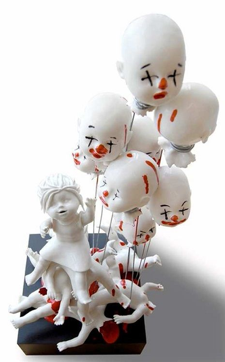 Best Maria Rubinke Images On Pinterest Art Sculptures - Amazingly disturbing porcelain figurines by maria rubinke