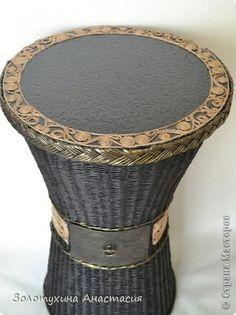 Поделка изделие Плетение Кофейный столик № 2 - подарок на новоселье  Бумага газетная Картон Шпагат фото 2