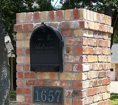 Brick Mailbox Design Options - Information & Pictures - Brick Doctor