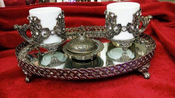 Coffee set cups Arabic service Espresso set Ottoman tray
