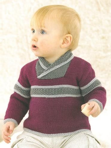 Babies Jumper knitted in Sublime Baby Cashmere Merino Silk Dk