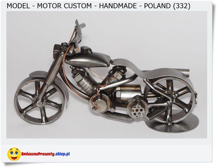 Metalowy model Motocykl Custom Handmade