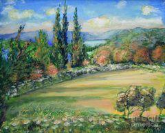 Raija Merila Painting - Landscape From Kavran by Raija Merila