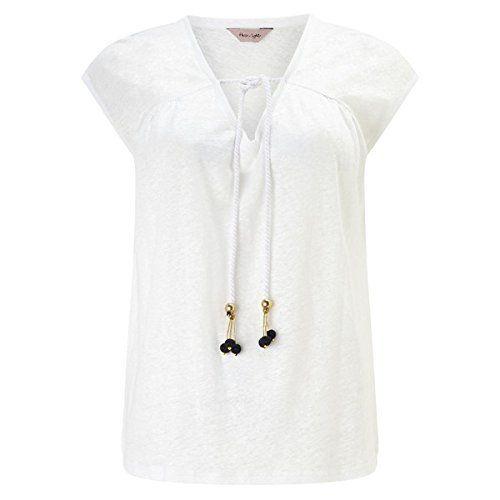 (フェーズ エイト) Phase Eight レディース トップス カジュアルシャツ Phase Eight Linen tassle top 並行輸入品  新品【取り寄せ商品のため、お届けまでに2週間前後かかります。】 カラー:ブルー 素材:-