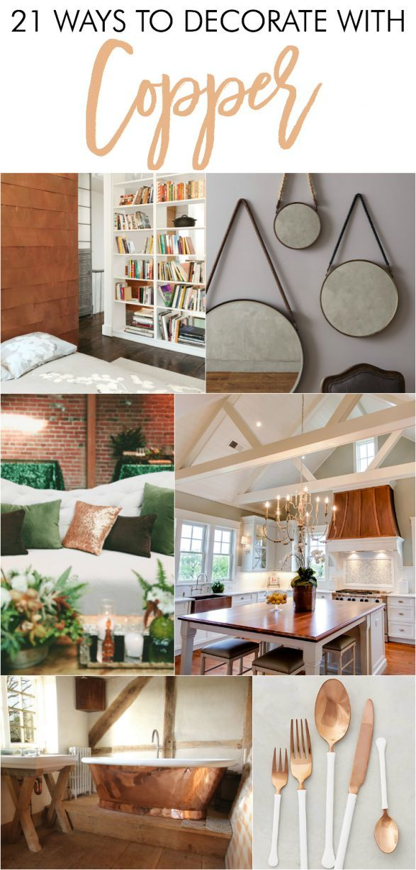 21 ways to decorate with copper copper accessories for Things to decorate bedroom